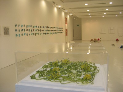 transit The Art Gallery NIE-NTU University Singapore - molecular bloom - installation view