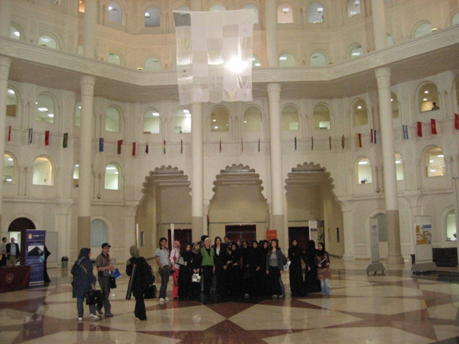 First Sharjah International Conference on Nanotechnology and its Applications - American University of Sharjah UAE - smart fabric quilt 2007 by Meredith Brice